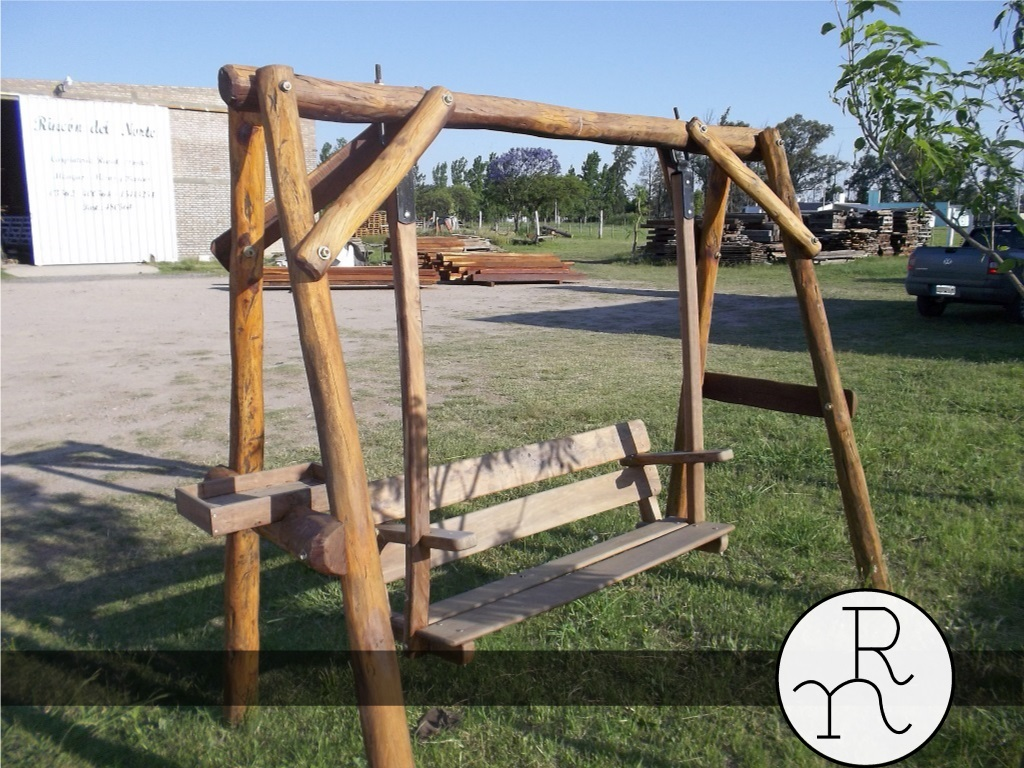 Muebles de madera de quebracho muebles rusticos mesas y for Balancines de madera para jardin